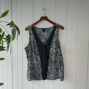 NWT Ann Taylor leopard print sleeveless top XL